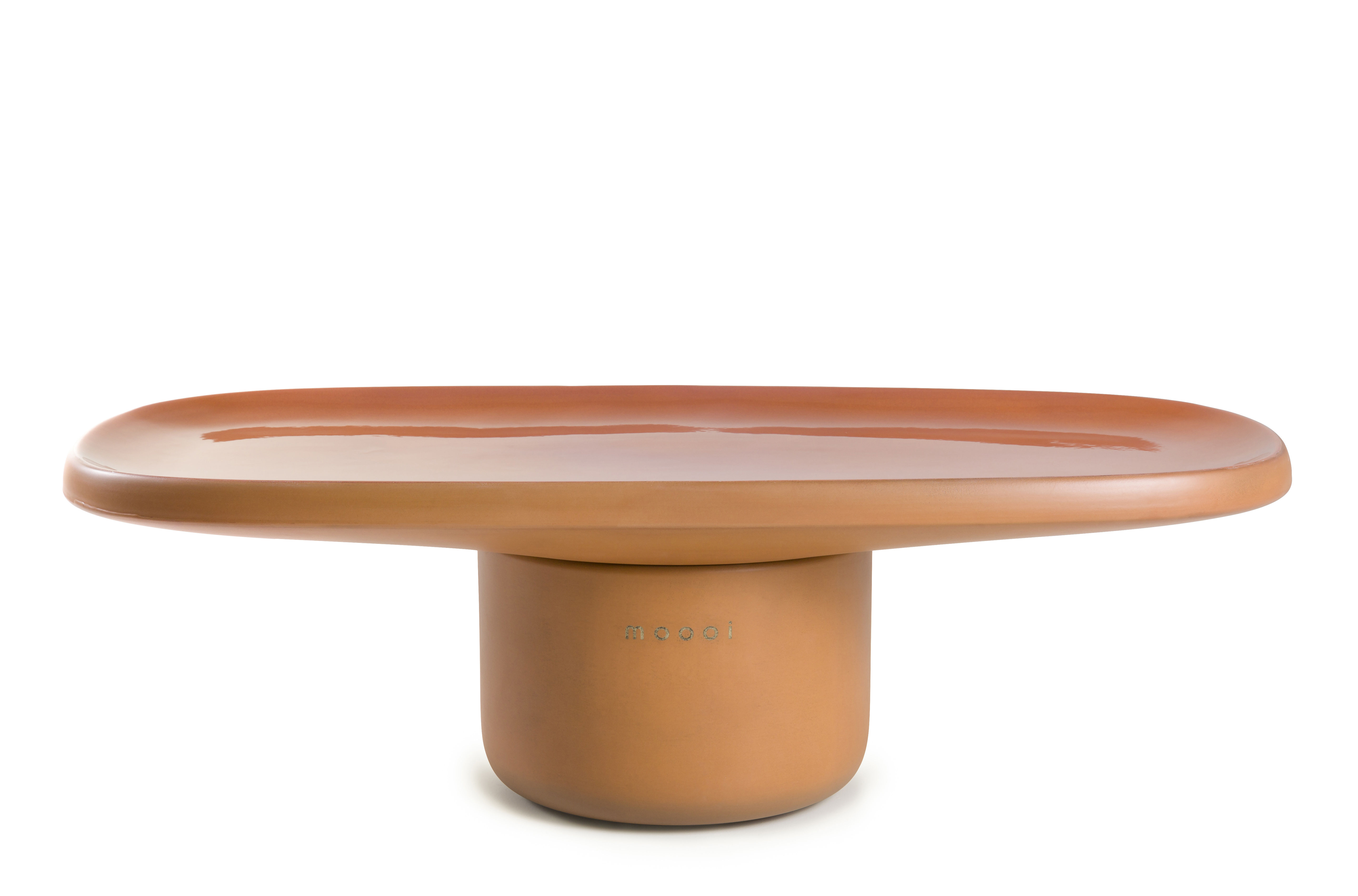 Furniture - Coffee Tables - Obon Coffee table - / Terracotta - 92 x 44 x H 28 cm by Moooi - Terracotta - Moulded terracotta