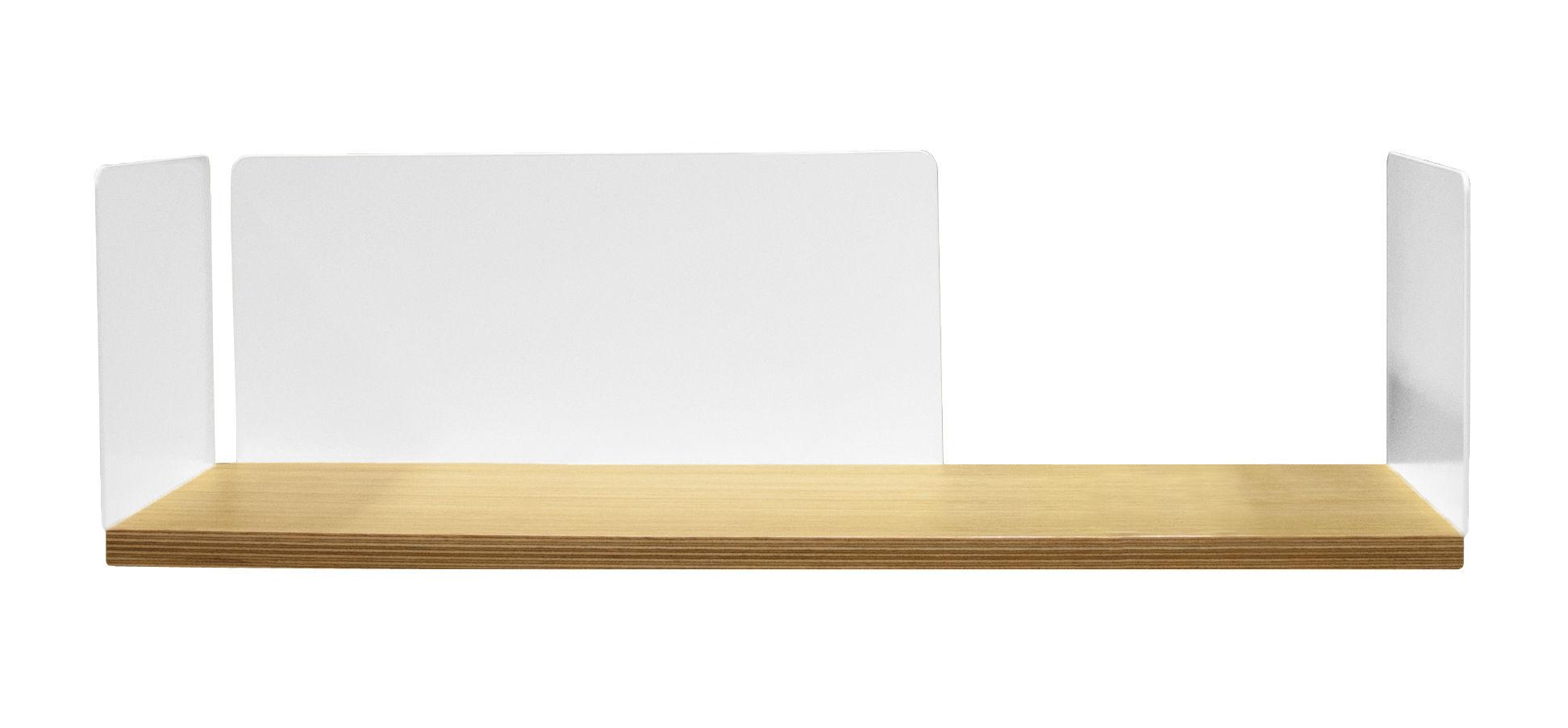 Mobilier - Etagères & bibliothèques - Etagère Portable Atelier / Moleskine - L 60 cm - Driade - Bois & blanc - Acier laqué, Contreplaqué de chêne