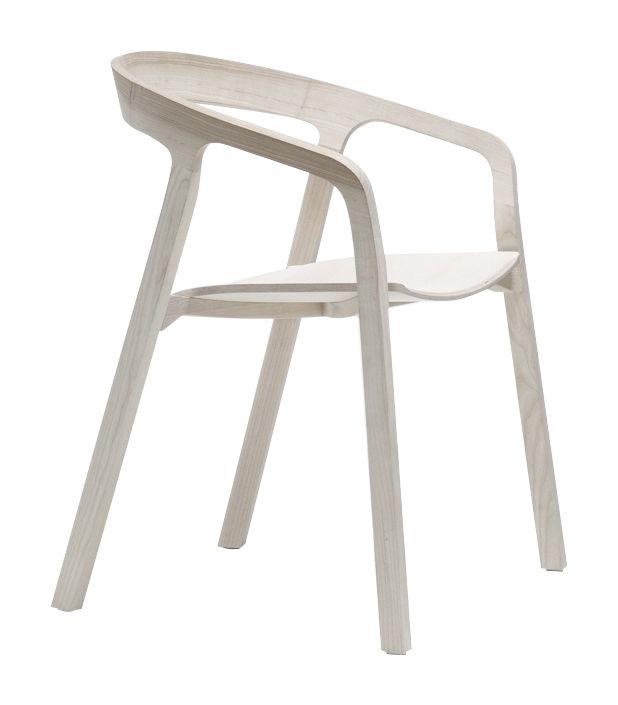 Mobilier - Chaises, fauteuils de salle à manger - Fauteuil empilable She Said / Bois - Mattiazzi - Frêne naturel - Frêne naturel