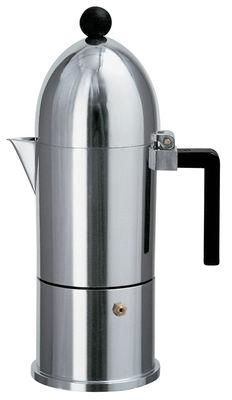 Tableware - Tea & Coffee Accessories - La Cupola Italian espresso maker - 3 - 6 cups by A di Alessi - Shiny metal - Cast aluminium, Polycarbonate