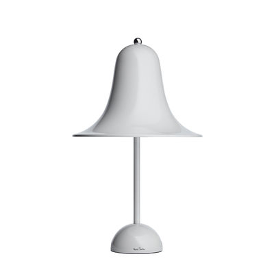 Image of Lampada da tavolo Pantop - / Ø 23 cm - Verner Panton (1980) di Verpan - Grigio - Metallo
