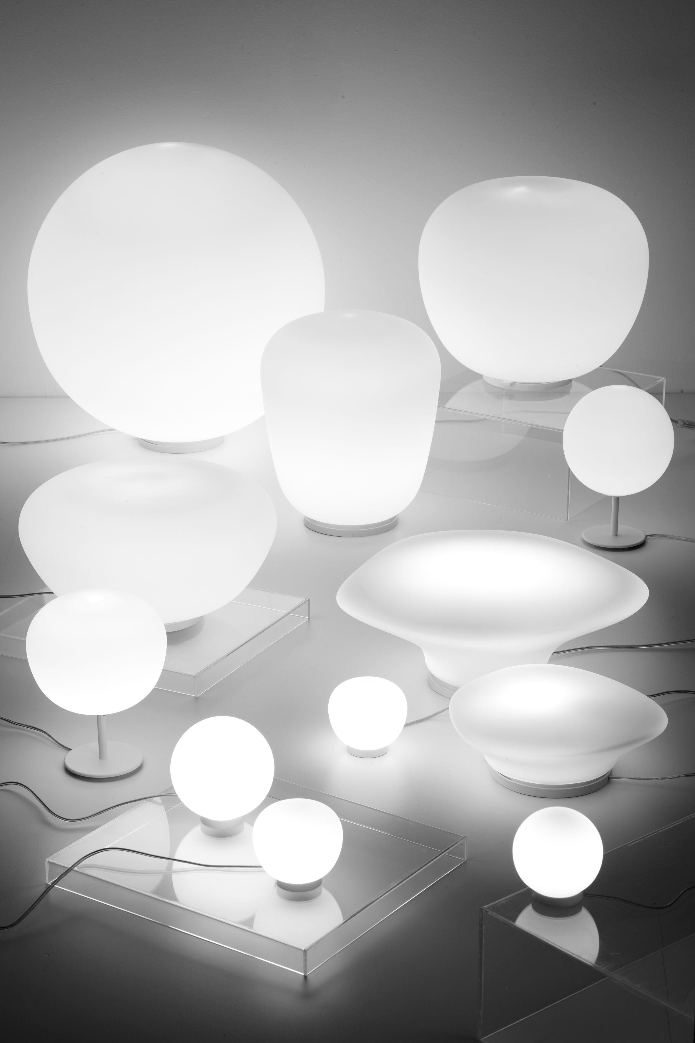 Lampada Da Tavolo Sfera Di Fabbian Bianco Made In Design