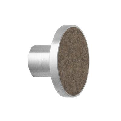 Patère Marbre Large / Poignée - Ø 4 cm - Ferm Living marron en pierre