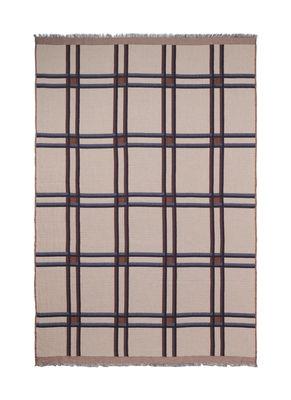 Plaid Checked Wool / Carreaux - Beige - Ferm Living beige en tissu