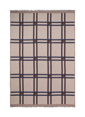 Decoration - Bedding & Bath Towels - Checked Wool Plaid - / Checks - Beige by Ferm Living - Beige - Coton - Laine