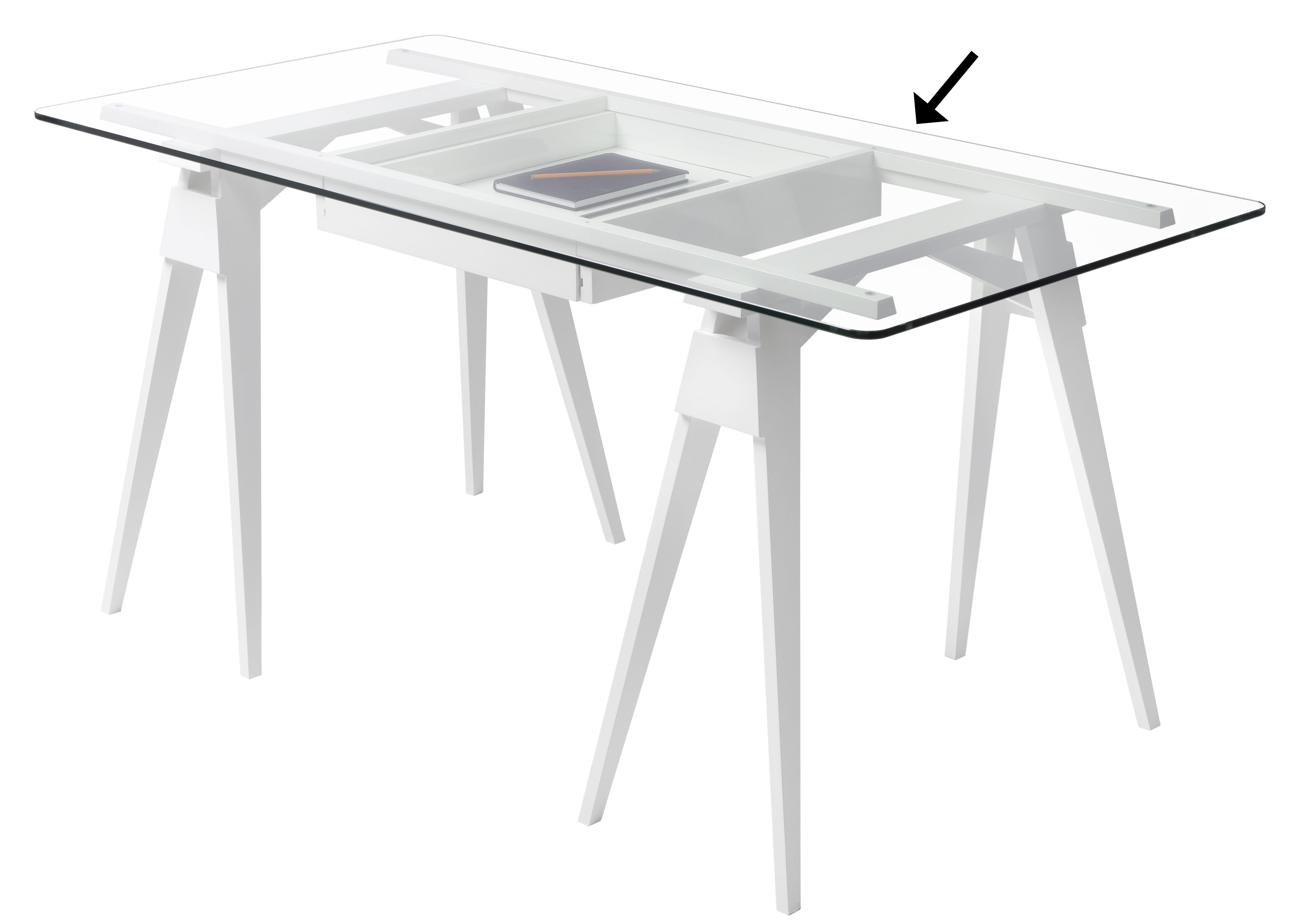 Mobilier - Bureaux - Plateau verre / Pour bureau Arco - 150 x 75 cm - Design House Stockholm - Plateau / Verre transparent - Verre trempé