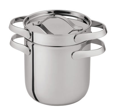 Kitchenware - Pots & Pans - Al Dente Pot - For spaghetti - Ø 20 cm / 6.1 L by Serafino Zani - Ø 20 cm - Shiny stainless steel - Polished stainless steel