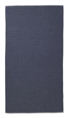 Serviette de plage Sento / Organic - 180 x 100 cm - Ferm Living bleu,gris clair en tissu