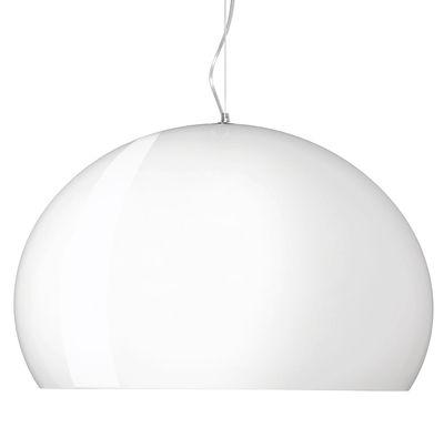 Suspension Big FL/Y / Ø 83 cm - Kartell blanc opaque brillant en matière plastique