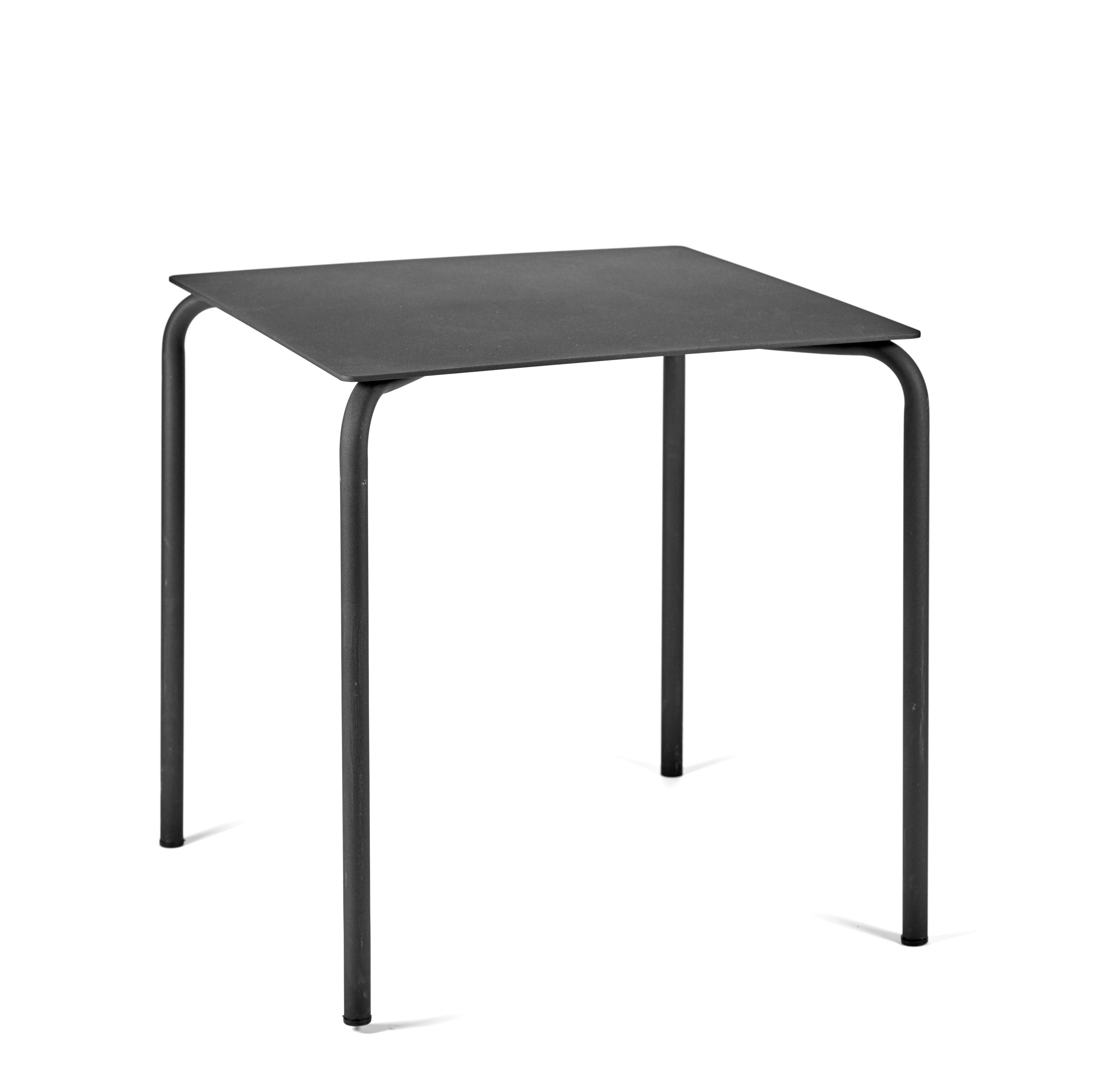 Outdoor - Garden Tables - August Table - / Aluminium - 70 x 70 cm by Serax - Black - Thermolacquered aluminium