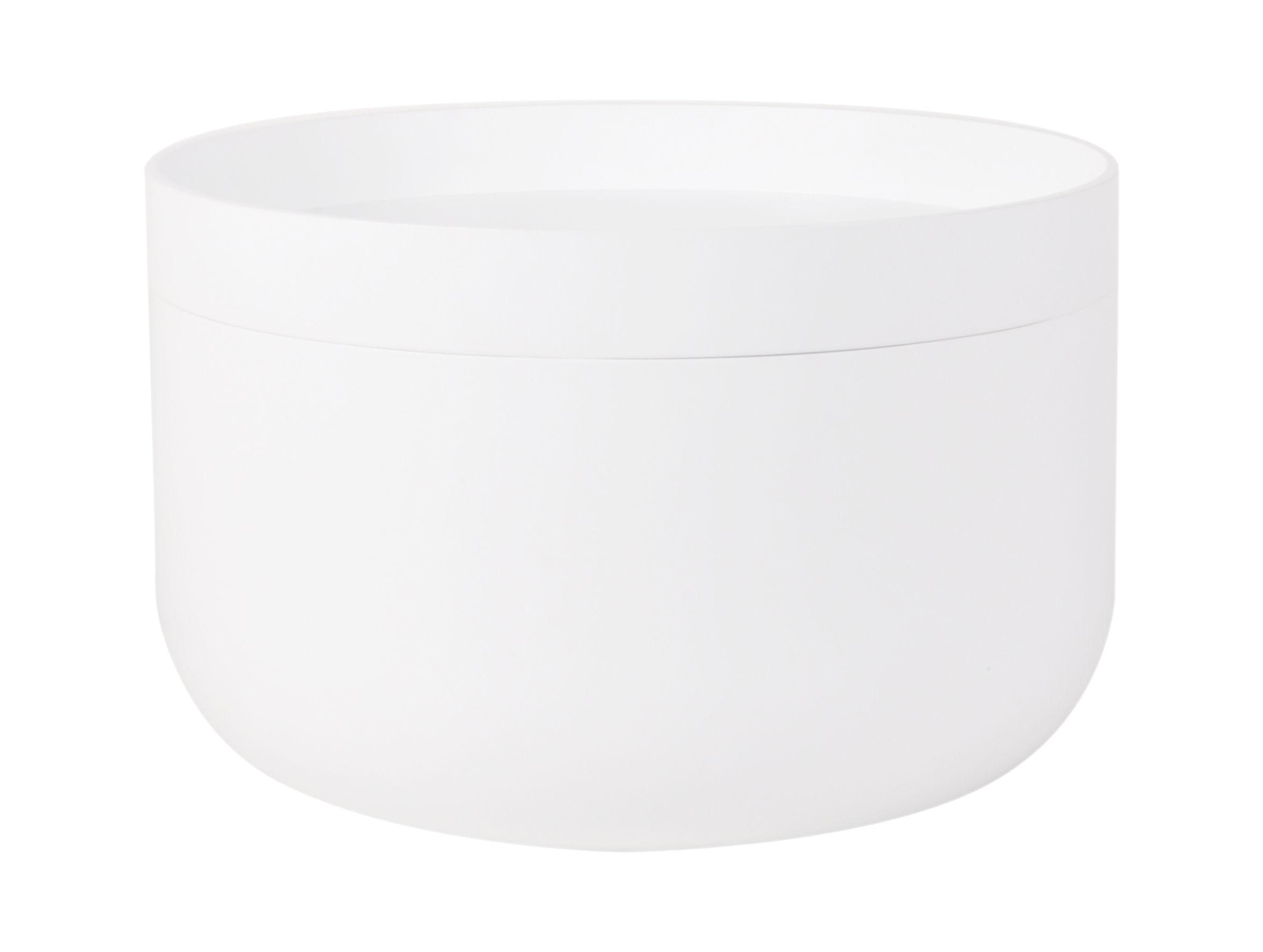 Mobilier - Tables basses - Table basse Stanly / Coffre - Ø 60 x H 38 cm- Plateau amovible - XL Boom - Blanc - Bambou peint, MDF peint