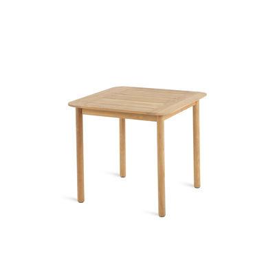 Jardin - Tables de jardin - Table carrée Pevero / 80 x 80 cm - Teck - Unopiu - Teck - Teck