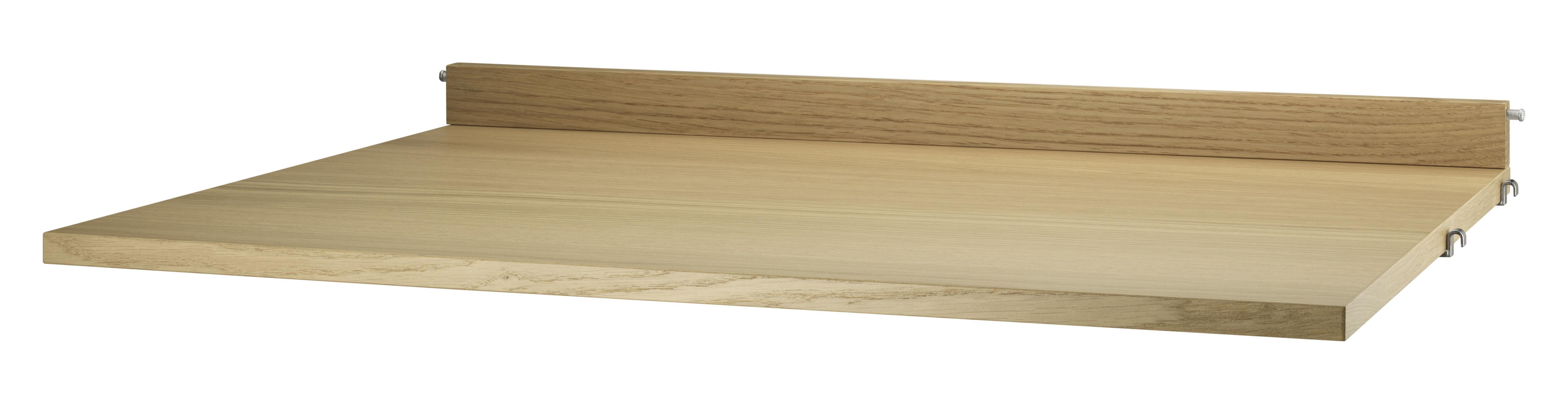 Mobilier - Etagères & bibliothèques - Tablette String System / Bureau - L 78 x P 58 cm - String Furniture - Chêne - Contreplaqué de chêne aggloméré