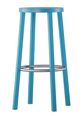 tabouret de bar blocco bois h 76 cm bleu plank. Black Bedroom Furniture Sets. Home Design Ideas