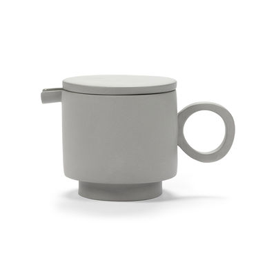 Tableware - Tea & Coffee Accessories - Inner Circle Teapot - / 95 cl - Sandstone by valerie objects - Light grey - Sandstone