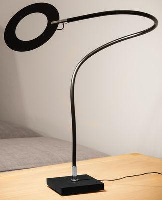 Leuchten - Tischleuchten - Mini Giulietta LED Tischleuchte / Ø 9 cm - Catellani & Smith - Ring schwarz - bemaltes Metall