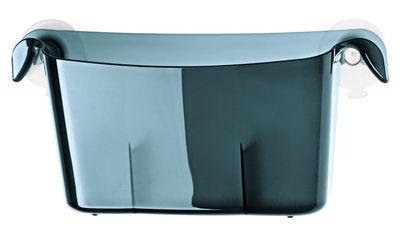 Interni - Bagno  - Vaschetta portaoggetti Miniboks - avec ventouses di Koziol - Antracite trasparente - Materiale plastico