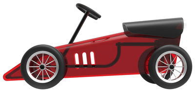 Mobilier - Mobilier Kids - Voiture Discovolante / Porteur pour enfants - Kartell - Rouge transparent & noir - Caoutchouc, Fer verni, PMMA