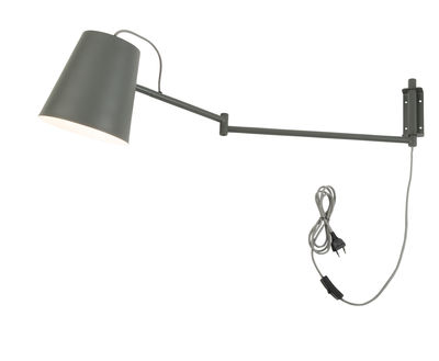 Lighting - Wall Lights - Brisbane Wall light with plug - / Orientable by It's about Romi - Grey-green - Iron