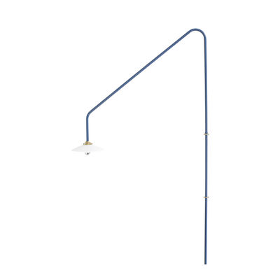Lighting - Wall Lights - Hanging Lamp n°4 Wall light with plug - / H 180 x L 90 cm by valerie objects - Blue - Glass, Steel