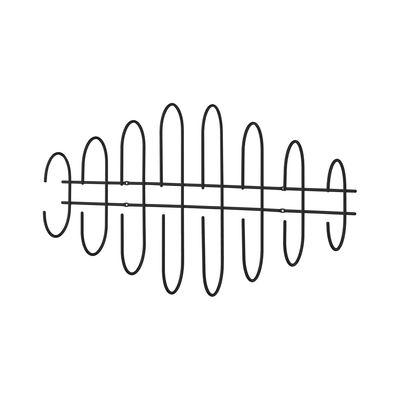 Arredamento - Appendiabiti  - Appendiabiti Moveo - /  L85 x H 50 cm di AYTM - Noir - Acciaio