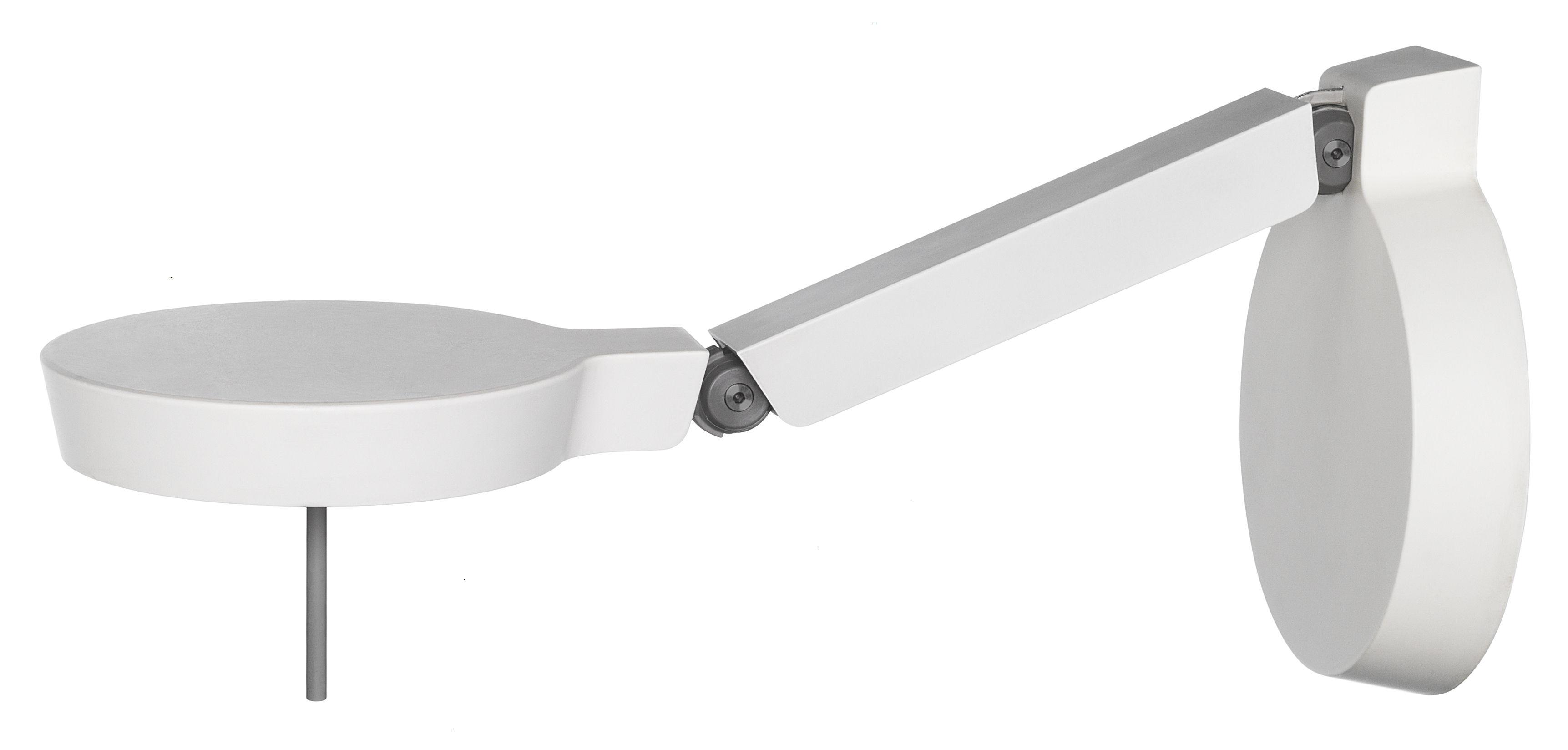 Luminaire - Appliques - Applique Claesson Koivisto Rune w081w LED / H 20 cm - Wästberg - Blanc - Aluminium extrudé, Fonte d'aluminium, Plastique