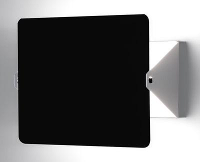 Illuminazione - Lampade da parete - Applique con presa - con elemento girevole E14 by Charlotte Perriand - Riedizione 1964 di Nemo - Bianco / Placca girevole nera - alluminio verniciato, metallo verniciato