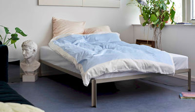 Furniture - Beds - Connect Bed frame - / Metal - 180 x 200 cm by Hay - 180 x 200 cm / White - Powder steel