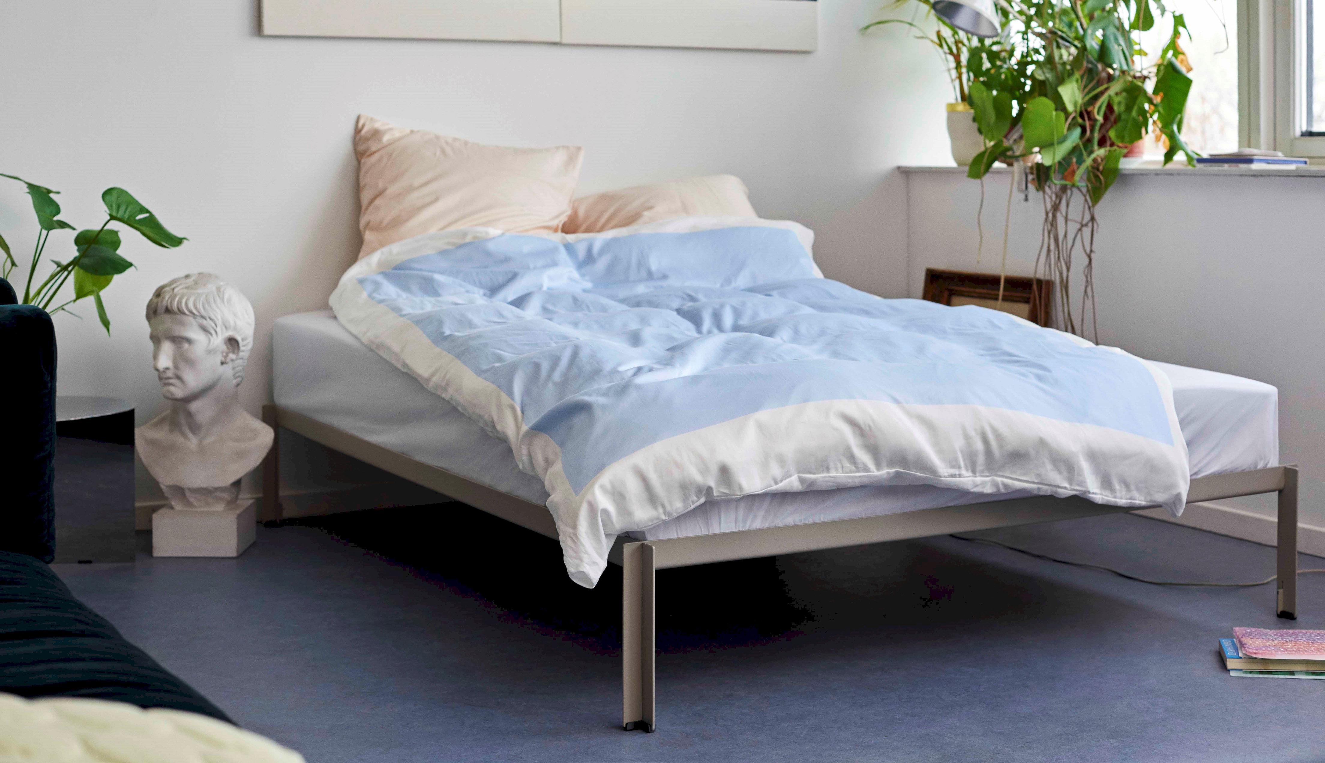Möbel - Betten - Connect Bettkasten / Metall - 180 x 200 cm - Hay - 180 x 200 cm / weiß - Pulverbeschichteter Stahl