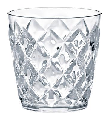 Tavola - Bicchieri  - Bicchiere da whisky Crystal - 200 ml di Koziol - Bicchiere 200 ml - Trasparente - Materiale plastico