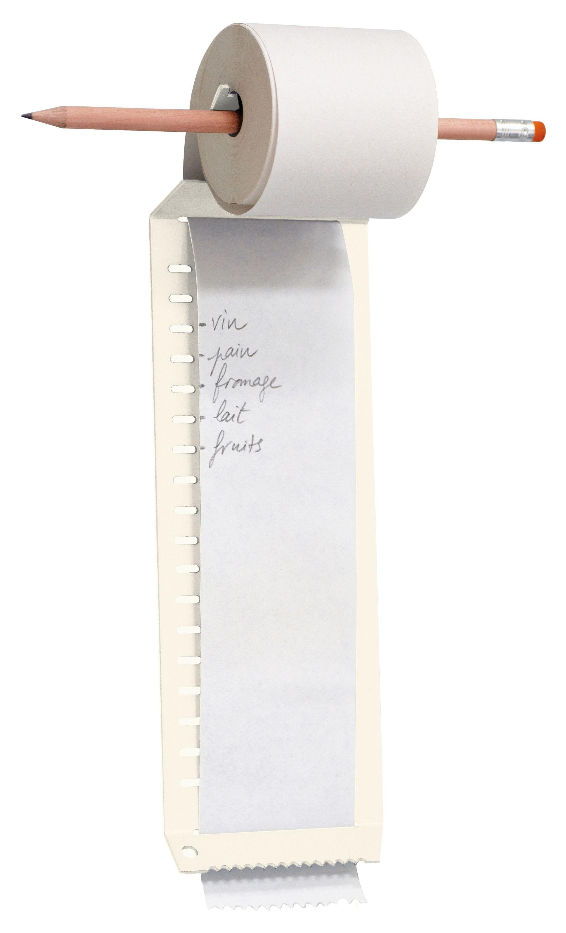 Accessori moda - Accessori ufficio - Bloc-notes Notes à l'infini di L'atelier d'exercices - Bianco - Acciaio