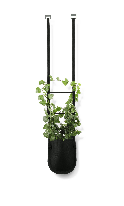 Outdoor - Töpfe und Pflanzen - Urban Garden Bag Blumentopf zum Aufhängen Tasche zum Aufhängen mit Gurt - 1 L - Authentics - Pflanztasche Größe S - 1 Liter / Schwarz - Polyester-Gewebe