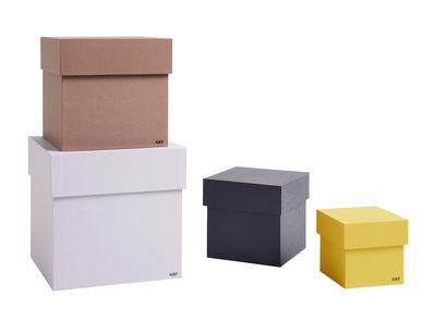 Déco - Boîtes déco - Boîte Desktop / Set de 4 - L 23 cm - Hay - Multicolore - Carton