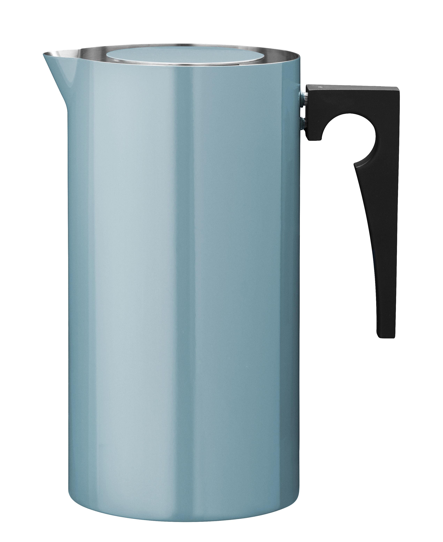 Arts de la table - Thé et café - Cafetière à piston Cylinda-Line / 1 L - Arne Jacobsen, 1967 - Stelton - Bleu turquoise - Acier inoxydable émaillé, Bakélite