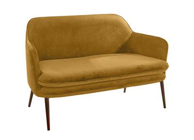 Canapé droit Charmy / Velours - L 128 cm - Pols Potten jaune or en tissu