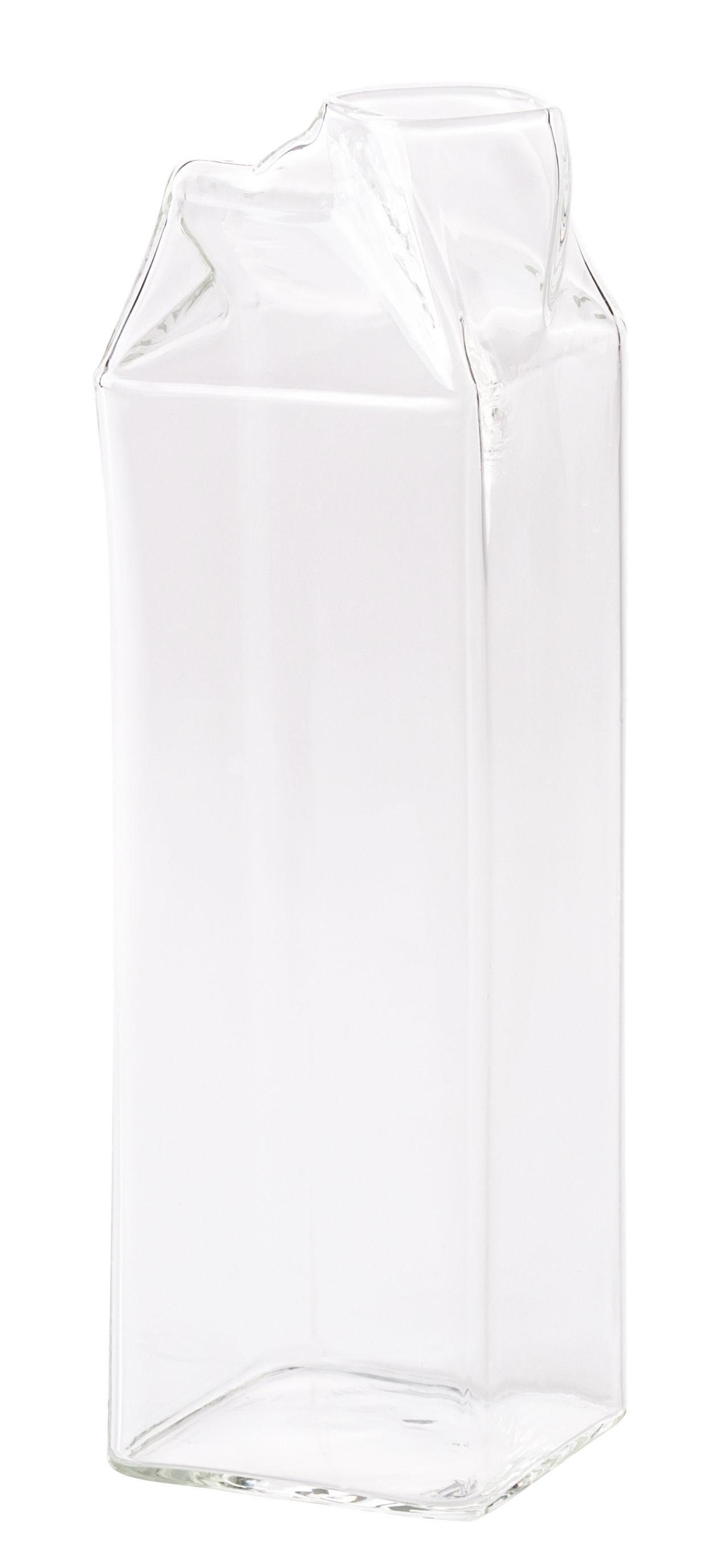 Tableware - Water Carafes & Wine Decanters - Estetico Quotidiano Carafe - Milk pot by Seletti - Transparent - Borosilicate glass