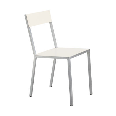 Furniture - Chairs - Alu Chair by valerie objects - Ivory seat / Ivory backrest - Aluminium