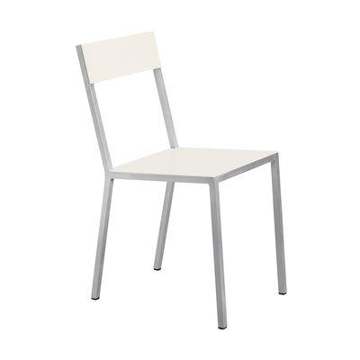 Mobilier - Chaises, fauteuils de salle à manger - Chaise Alu - valerie objects - Assise ivoire / Dossier ivoire - Aluminium
