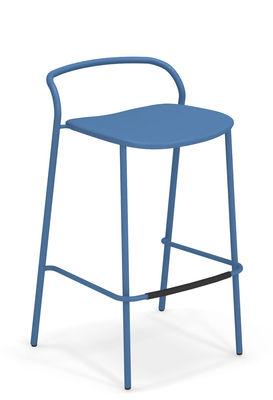 Chaise de bar Zahir H 75 cm Métal Emu bleu azur en métal