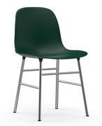 Chaise Form Pied chromé Normann Copenhagen vert,chromé en matière plastique