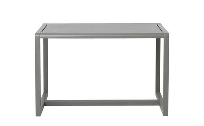 Furniture - Kids Furniture - Little Architect Children table - / 4 places - 76 x 55 cm by Ferm Living - Grey - Ash plywood