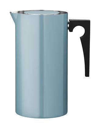 Tableware - Tea & Coffee Accessories - Cylinda-Line Coffee maker - 1967 reissue - 1 L by Stelton - Teal blue - Bakelite, Enamelled stainless steel