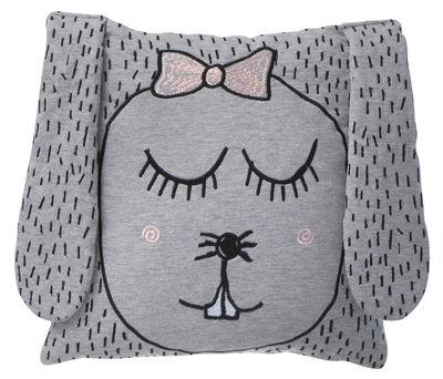 Déco - Pour les enfants - Coussin Little Ms. Rabbit - Ferm Living - Lapin / Rose & gris - Duvet, Plumes, Tissu