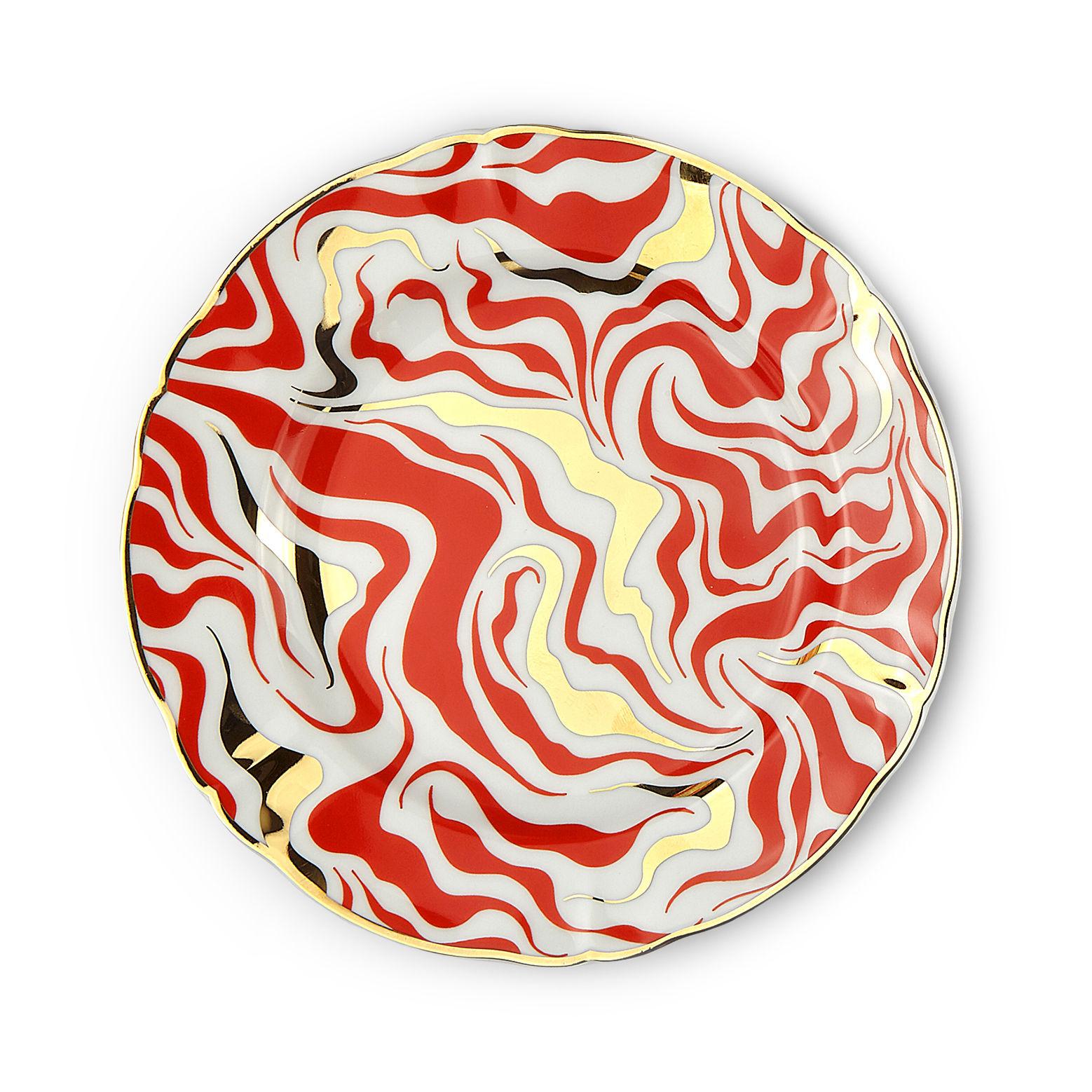 Tableware - Plates - Tempesta Dessert plate - / Ø 20.5 cm by Bitossi Home - Storm - China