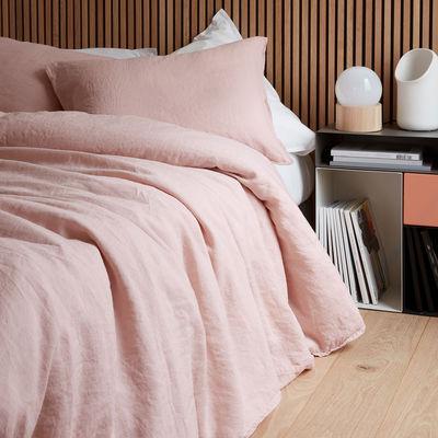 Déco - Textile - Housse de couette 260 x 240 cm / Lin lavé - Au Printemps Paris - 260 x 240 cm / Rose - Lin lavé