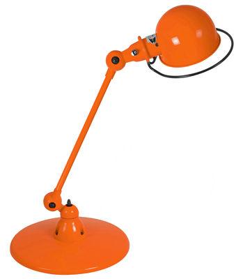 Luminaire - Lampes de table - Lampe de table Loft / 1 bras - L 60 cm - Jieldé - Orange brillant - Acier inoxydable