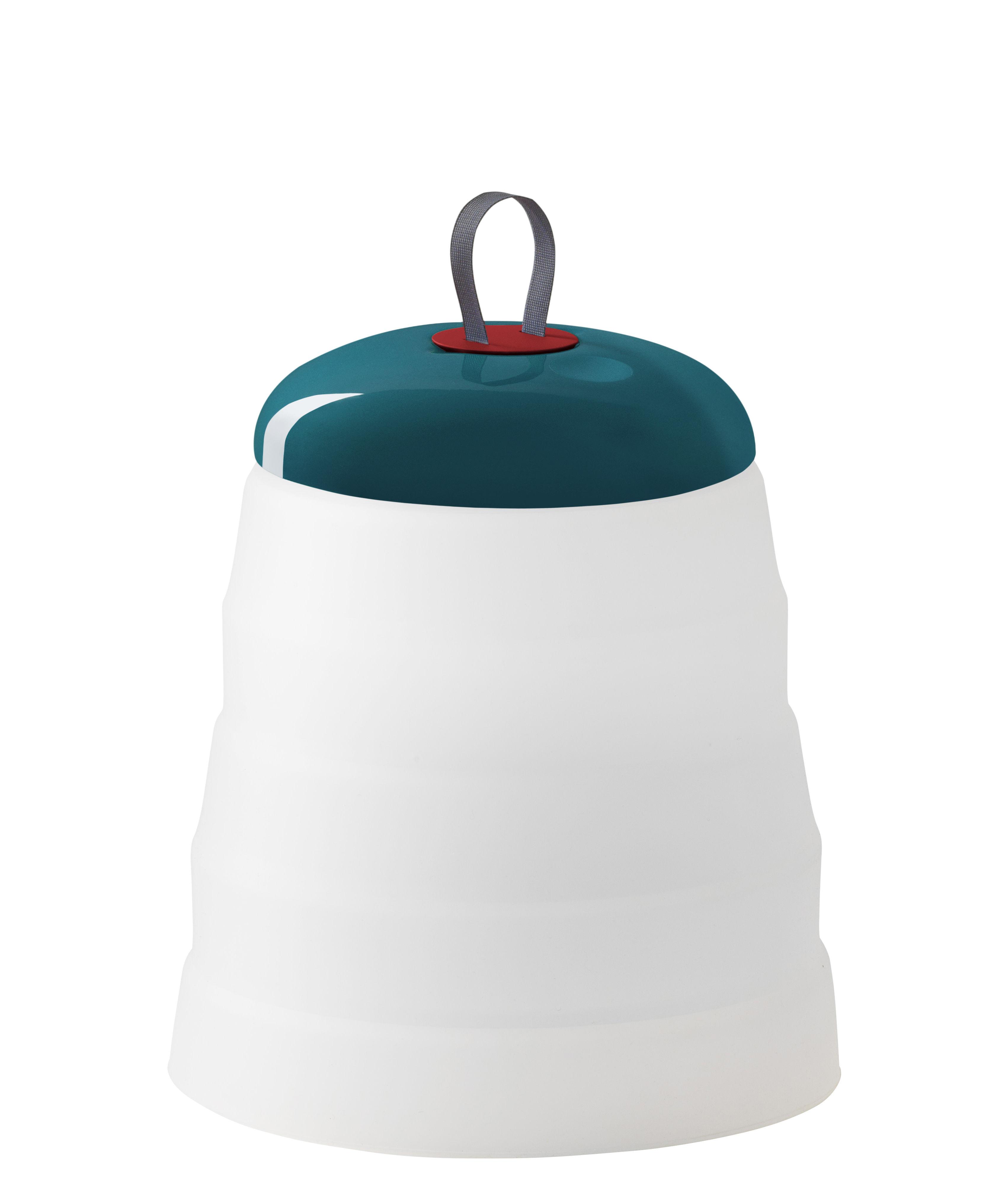 Leuchten - Tischleuchten - Cri Cri LED Outdoor Lampe ohne Kabel / H 31 cm - mit USB-Ladekabel - Foscarini - Grün - ABS, PMMA, Silikon