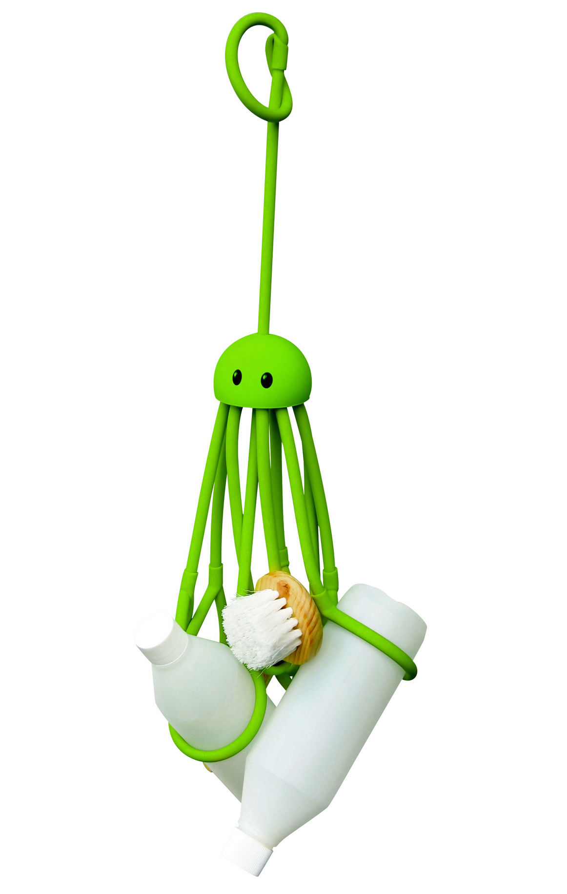 Decoration - For bathroom - Octopus Object organiser - Shower octopus by Pa Design - Green - Rubber