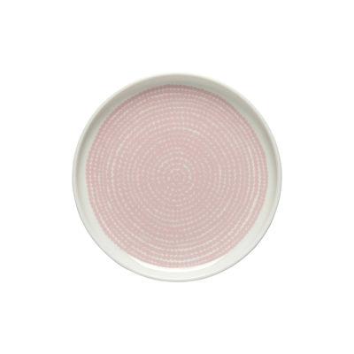 Tableware - Plates - Siirtolapuutarha Petit fours plates - / Ø 13.5 cm by Marimekko - Siirtolapuutarha / Pink - Sandstone