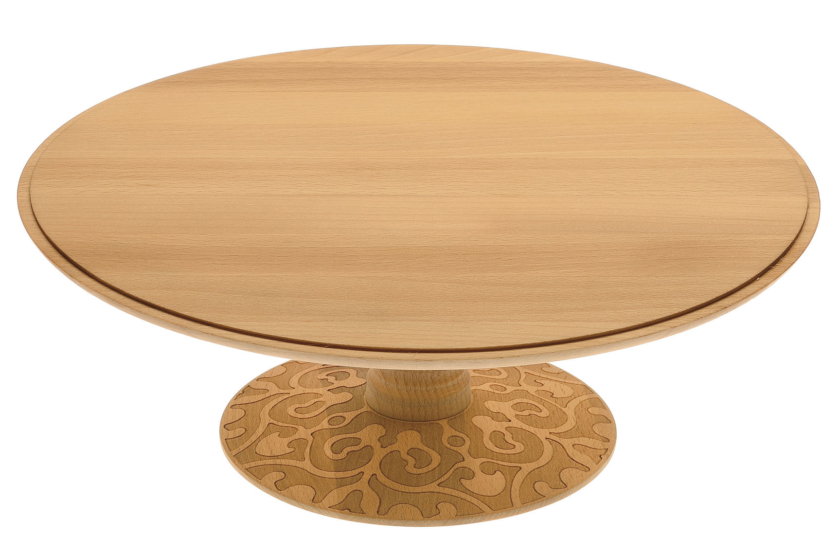 Arts de la table - Plats - Plat Dressed in Wood / Sur pied - Alessi - Bois naturel - Hêtre